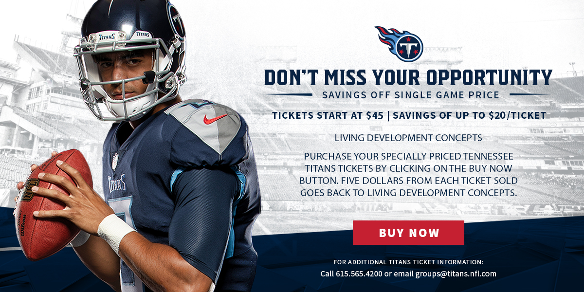 Join Us for a Tennessee Titans Game and Help Us Raise Some Money!